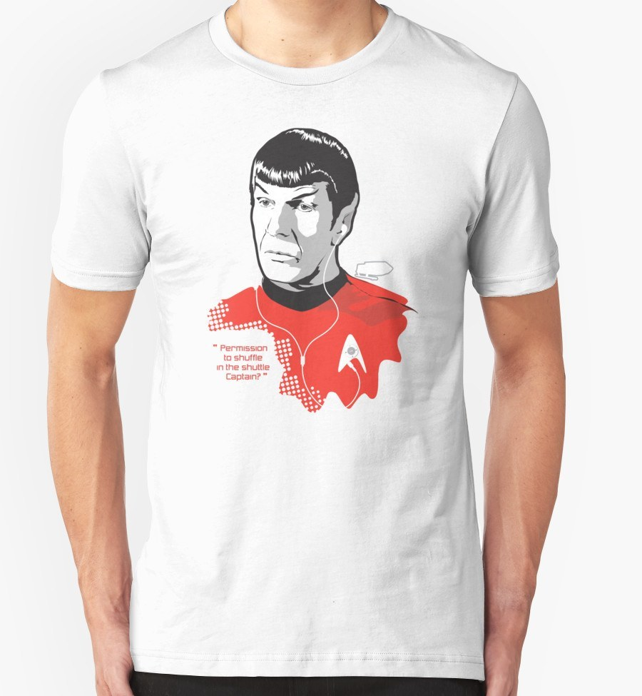 """SPOCK """"Permission to shuffle in the shuttle Captain?"""""""