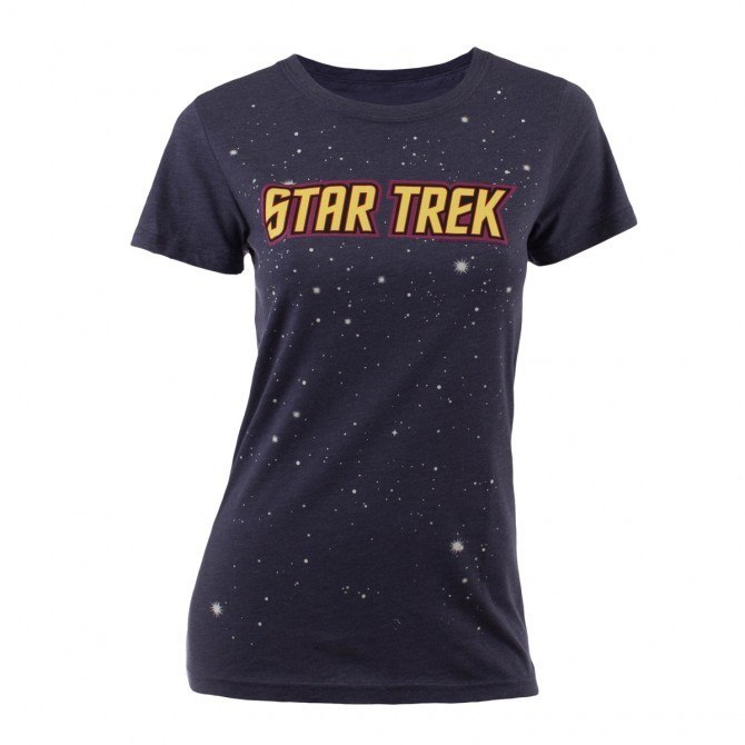 Star Trek Logo with Stars Women's Fit