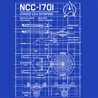 Enterprise NCC-1701 Blueprint