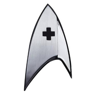 QMx Star Trek Discovery Insignia Badge: Medical