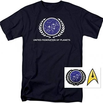 Popfunk Star Trek United Federation Of Planets T Shirt & Exclusive Stickers