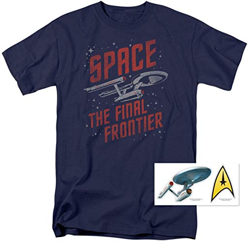 Popfunk Star Trek Space The Final Frontier T Shirt & Exclusive Stickers