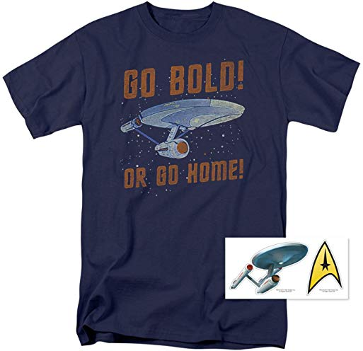 Star Trek Go Bold or Go Home T Shirt & Exclusive Stickers