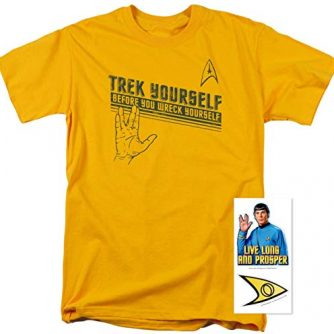 Popfunk Star Trek Vulcan Salute T Shirt and Exclusive Stickers