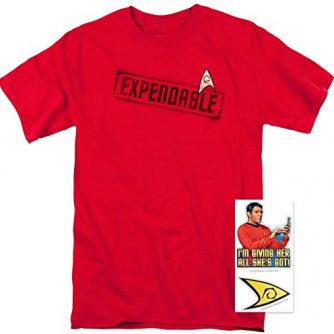 Popfunk Star Trek Expendable T Shirt and Exclusive Stickers