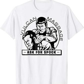 Star Trek Original Series Spock Massage Graphic T-Shirt