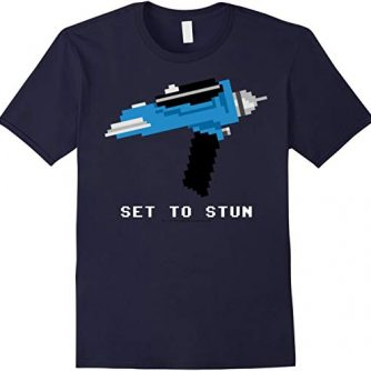 Star Trek Original Series Pixel Phaser Set To Stun T-Shirt
