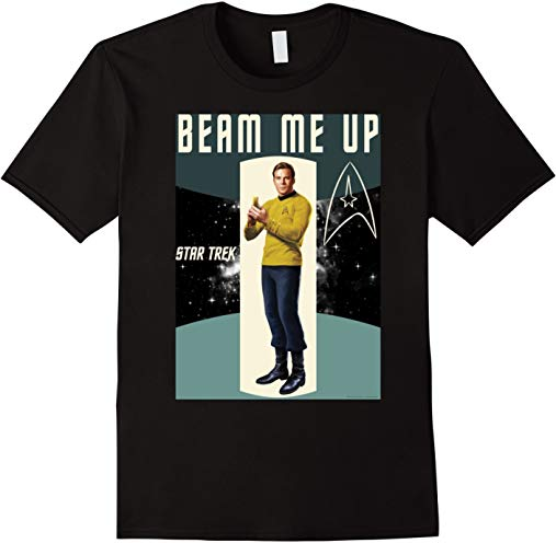 Star Trek Original Series Kirk Beam Me Graphic T-Shirt