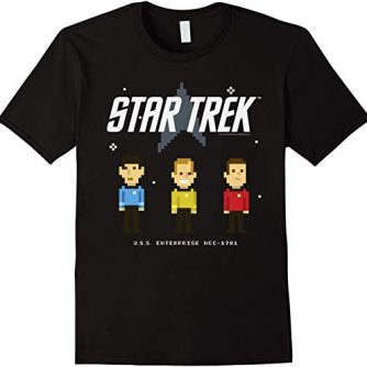 Star Trek Original Series Pixel Officers Graphic T-Shirt