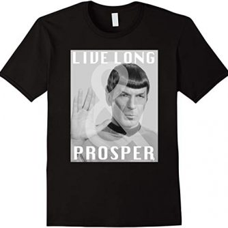 Star Trek Original Series Spock Live Long Photo T-Shirt