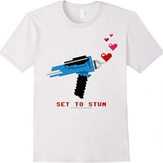 Star Trek Original Series Pixel Phaser Heart Stun T-Shirt