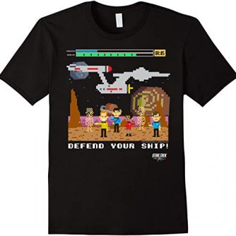 Star Trek Original Series Pixel Video Game Graphic T-Shirt