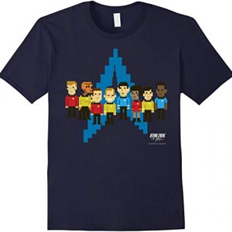 Star Trek Original Series Pixel Crew Delta Graphic T-Shirt
