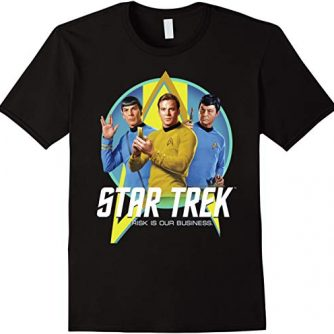 Star Trek Original Series Risk Is Business Graphic T-Shirt
