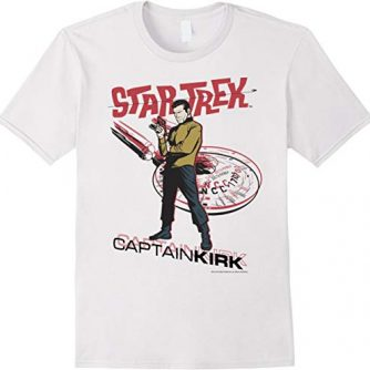 Star Trek Original Series Captain Kirk Retro Comic T-Shirt