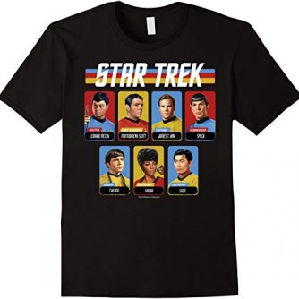 Star Trek Original Series Crew Retro Rainbow Graphic T-Shirt