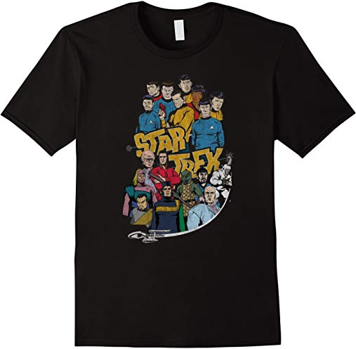 Classic Star Trek Crew and Villain T-Shirt