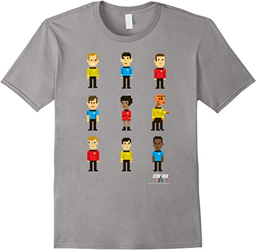 Star Trek Original Series Pixel Crew Line-Up Graphic T-Shirt