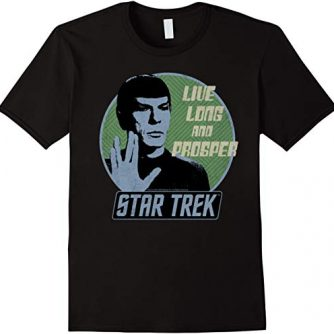 Star Trek Original Series Spock Prosper Retro Badge T-Shirt