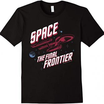 Star Trek Original Series Final Frontier Pop Graphic T-Shirt