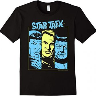 Star Trek Original Series Neon Portraits Graphic T-Shirt