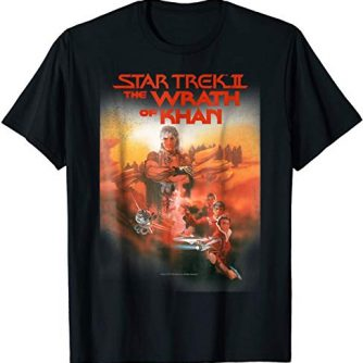 Star Trek The Wrath Of Khan Vintage Poster Graphic T-Shirt