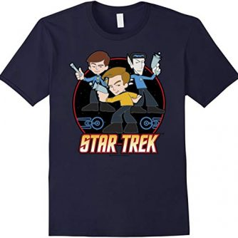 Star Trek Original Series Kirk Cartoon Crew Graphic T-Shirt