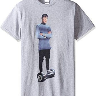 Star Trek Men's Spock Hoverboard T-Shirt