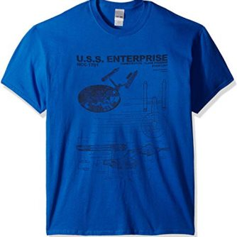 Star Trek Men's U.s.s. Enterprise T-Shirt