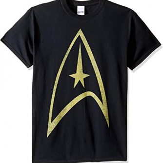 Star Trek Men's Black and Yellow Logo T-Shirt