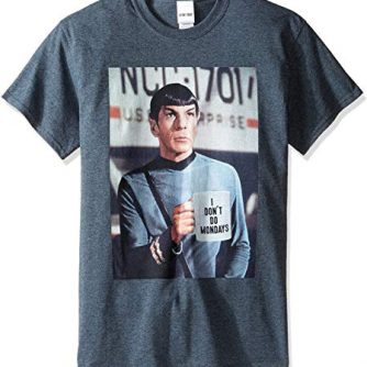 Star Trek Men's Spock I Don't Do Mondays T-Shirt