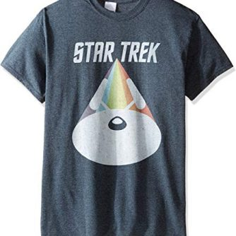 Star Trek Men's Vintage Rainbow Spacecraft T-Shirt