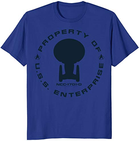 Star Trek Next Generation Property Badge Graphic T-Shirt