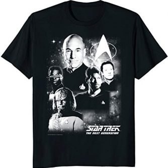 Star Trek Next Generation Captain's Crew Graphic T-Shirt