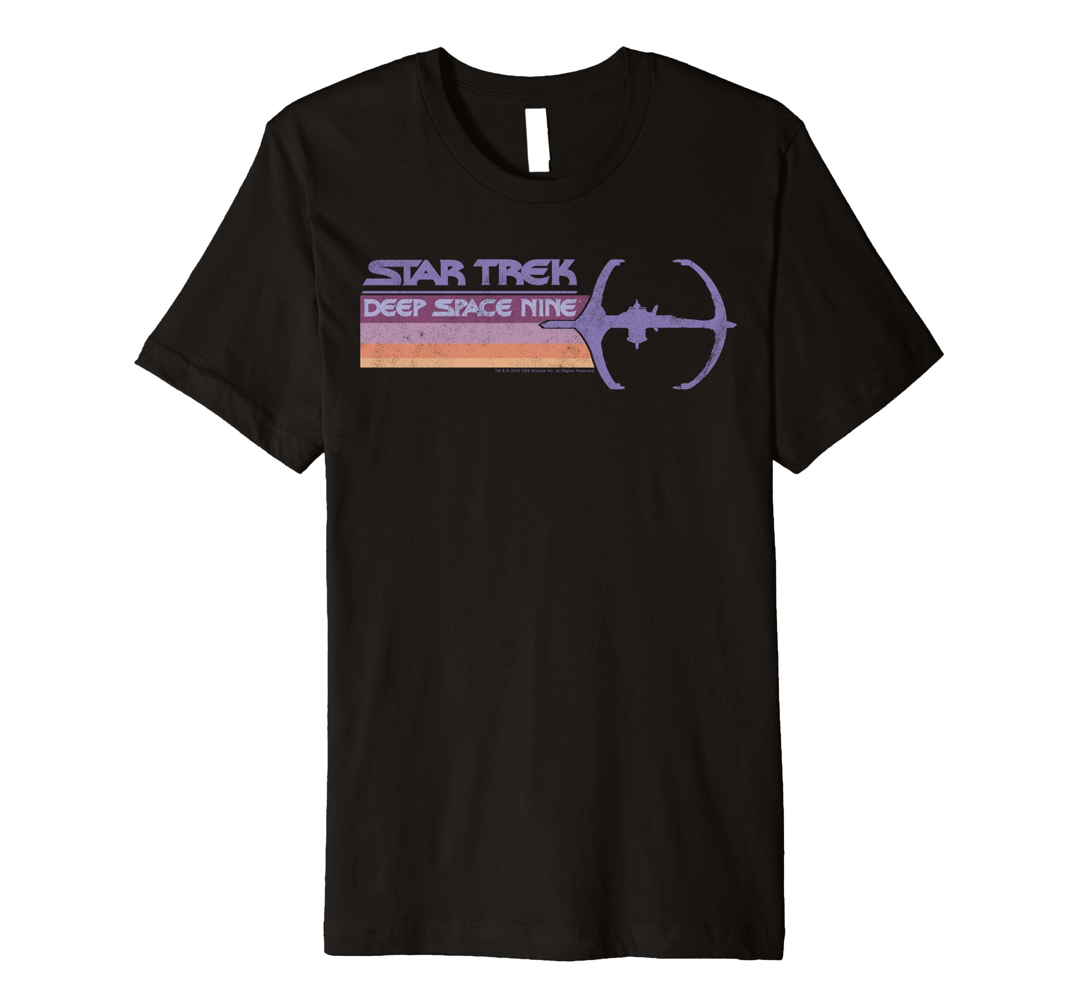 DS9 Pastel Retro Rainbow Stripe Premium T-Shirt