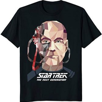 Star Trek Next Generation Locutus Low Poly Graphic T-Shirt