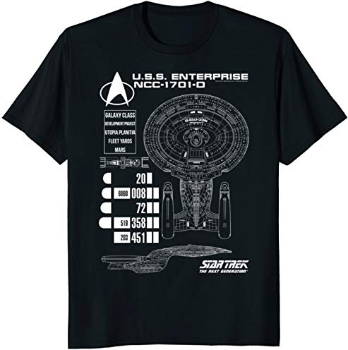 Star Trek Next Generation Enterprise Chart Graphic T-Shirt