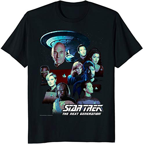 Star Trek Next Generation Crew Portraits Graphic T-Shirt